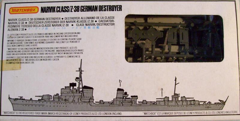 [MATCHBOX] Destroyer Z 38 classe NARVICK 1/700ème Réf PK62 S7307264