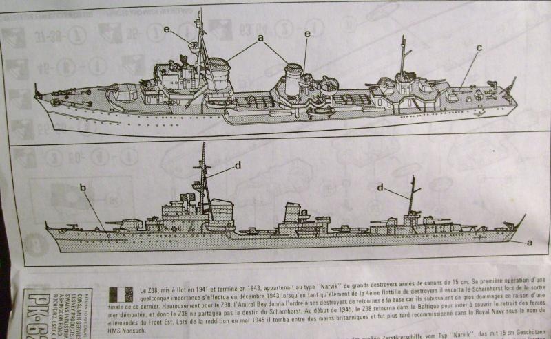 [MATCHBOX] Destroyer Z 38 classe NARVICK 1/700ème Réf PK62 S7307266