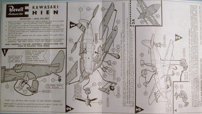 """Multi-présentation REVELL KAWASAKI Ki 61  HIEN """"TONY"""" 1/72ème Réf H621  /  NAKAJIMA Ki 43 HAYABUSA 1/72ème Réf H641 / NAKAJIMA Ki 84 1a HAYATE 1/72ème Réf H637 S7307346"""