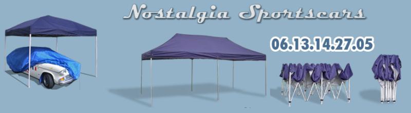 NOSTALGIA SPORTSCARS - TENTES D'ASSISTANCE pliables en 60s Nostal11