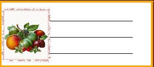 Voici des étiquettes de cuisine à personnaliser incha'ALLAH Fruits10