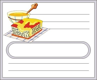 Voici des étiquettes de cuisine à personnaliser incha'ALLAH Miel10