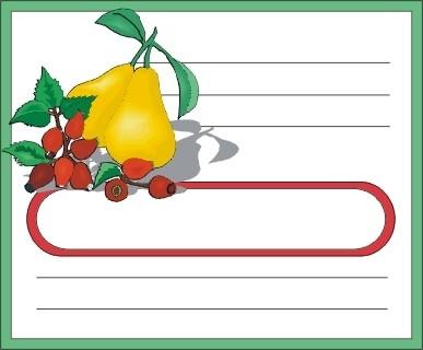 Voici des étiquettes de cuisine à personnaliser incha'ALLAH Poires10