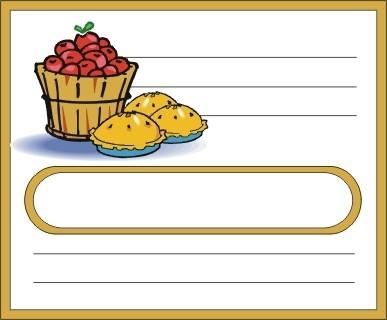 Voici des étiquettes de cuisine à personnaliser incha'ALLAH Pommes10