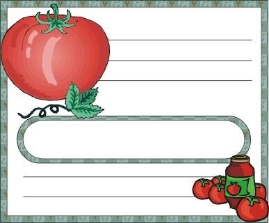 Voici des étiquettes de cuisine à personnaliser incha'ALLAH Tomate10