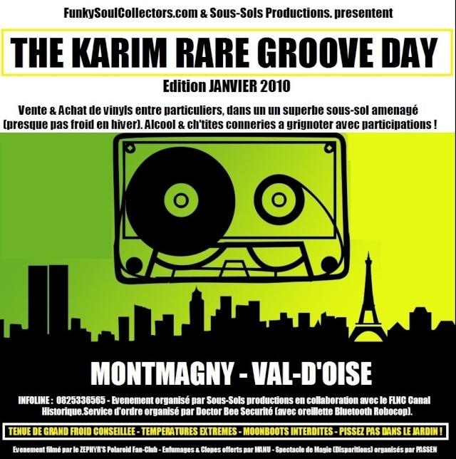[Janvier 2010] Prochaine convention FSC : The Karim Rare Groove Day... Flyer110