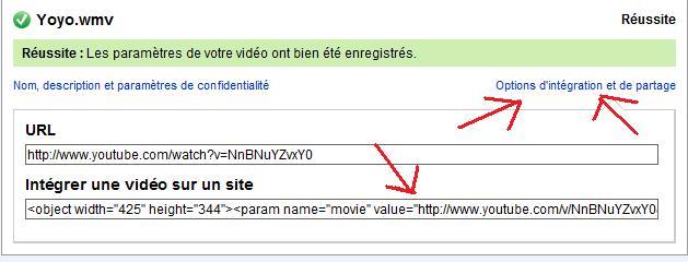 Comment poster vos vidéos Lien10