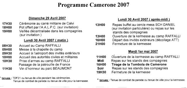 CAMERONE   2007  PROGRAME File0210