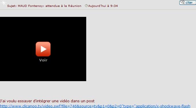 Afficher une petite video dans un post(résolu) Jcharr10