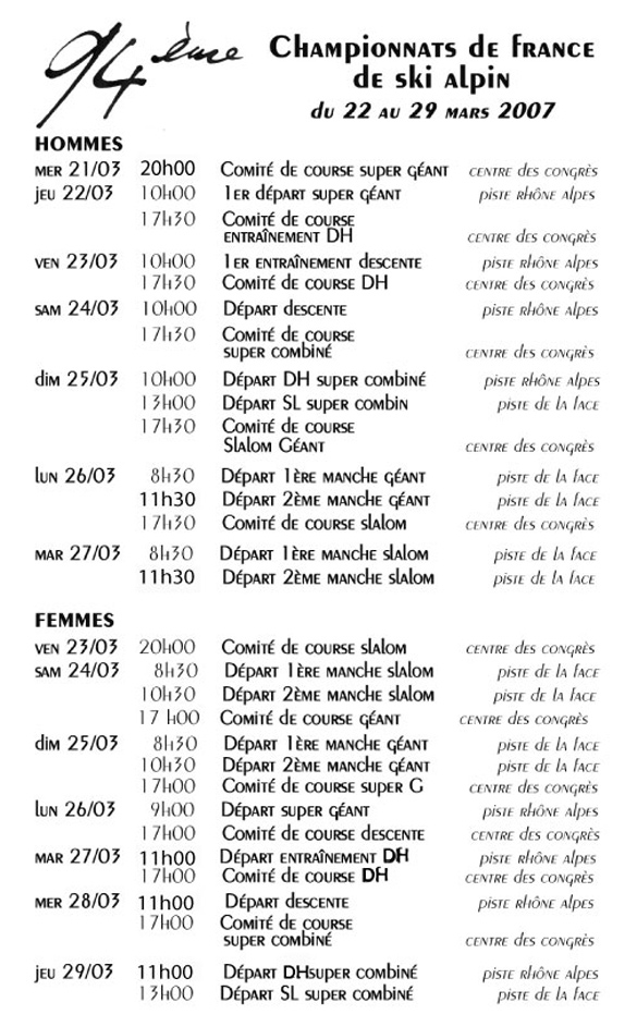 Championnats de France 2007 à Val Champf10