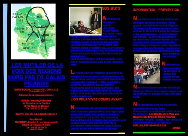 Brochure Mutilé de la Voix Nord-Pas-de-Calais Projet10