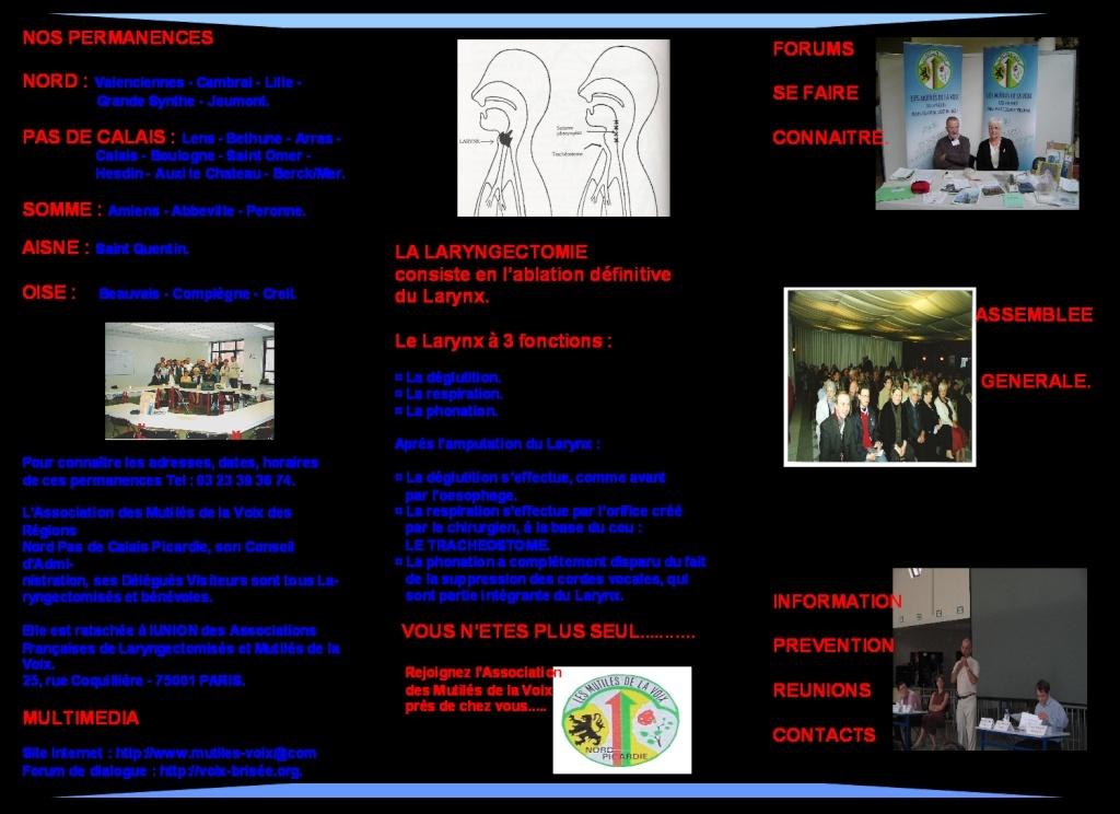 Brochure Mutilé de la Voix Nord-Pas-de-Calais Projet11