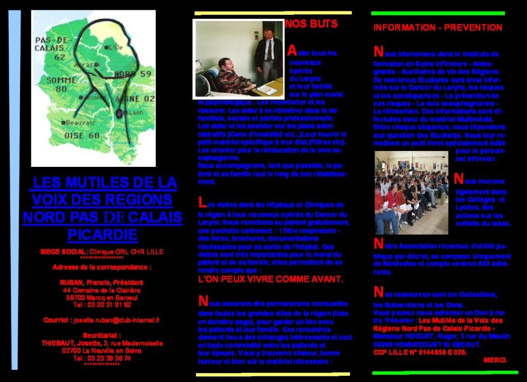 Brochure Mutilé de la Voix Nord-Pas-de-Calais Projet12