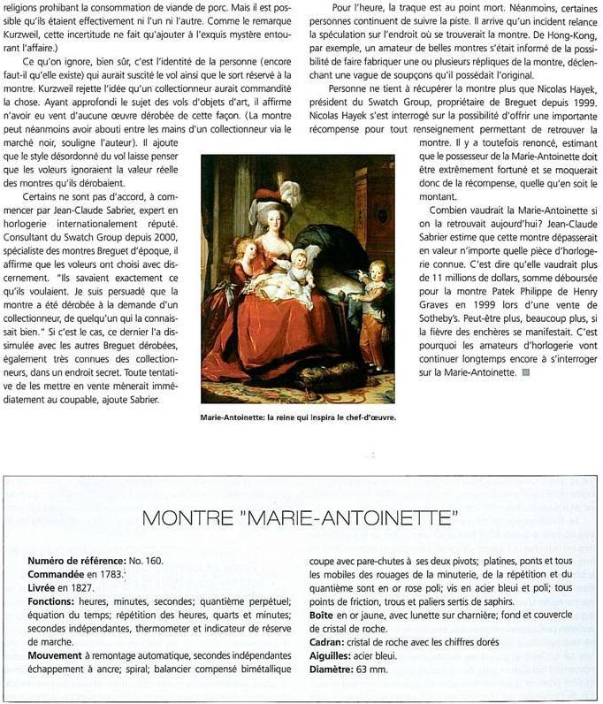 """Petite histoire de la Breguet """"Marie Antoinette"""" B412"""