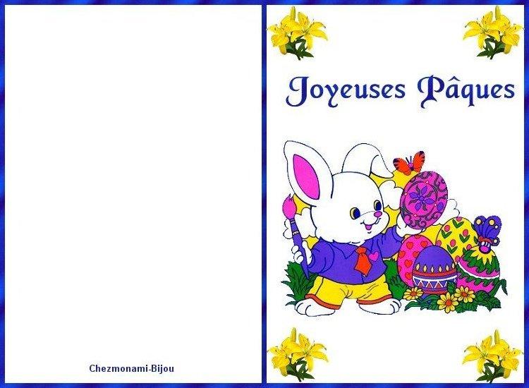 Cartes de joyeuse Pâques. Carte_11