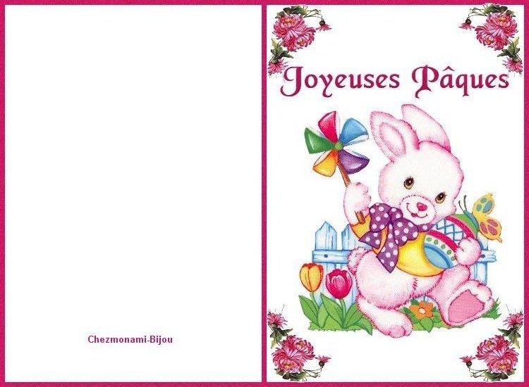Cartes de joyeuse Pâques. Carte_12