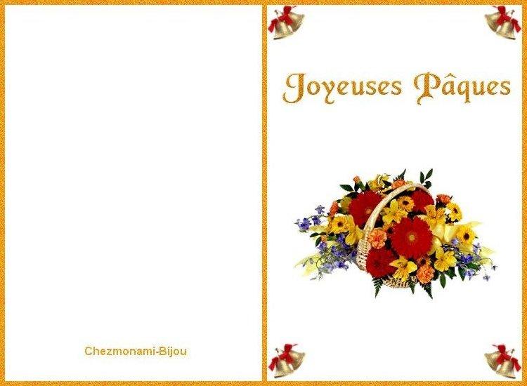 Cartes de joyeuse Pâques. Carte_13