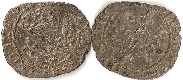 Double sol parisis, 1er type - 1569 pour Charles IX 1620_s10