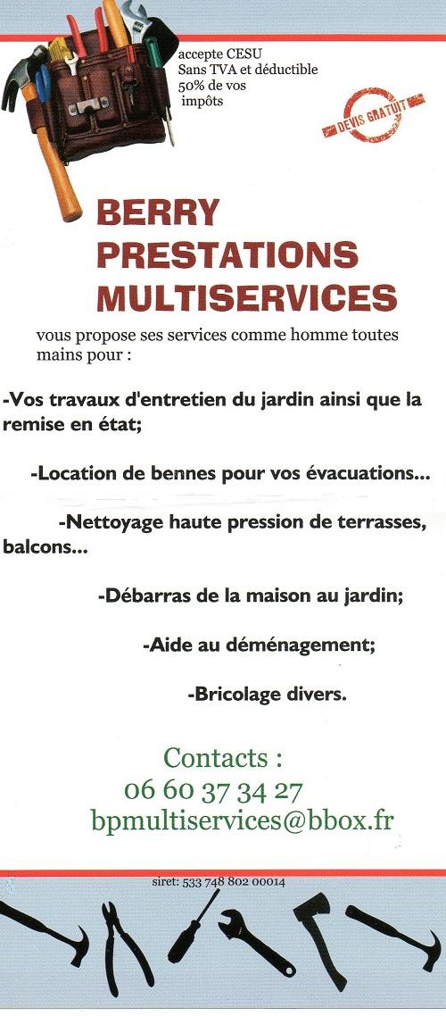 BOURGES - BERRY PRESTATIONS MULTISERVICES - Jardinage, nettoyage,déblaiement, débarras Bourge10