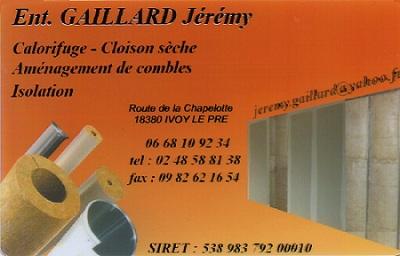 IVOY LE PRE (Cher) - GAILLARD Jérémy - Plaquiste, isolation, aménagement de combles Ivoy-410