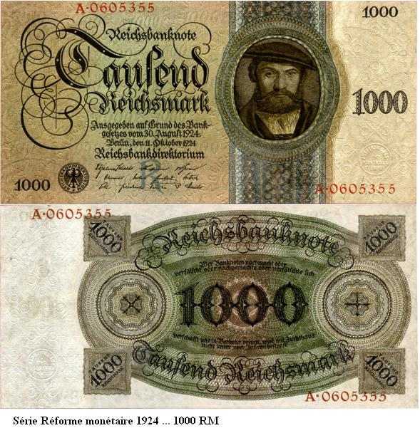 Le Reichsmark - (1924/1948) 1000_r10