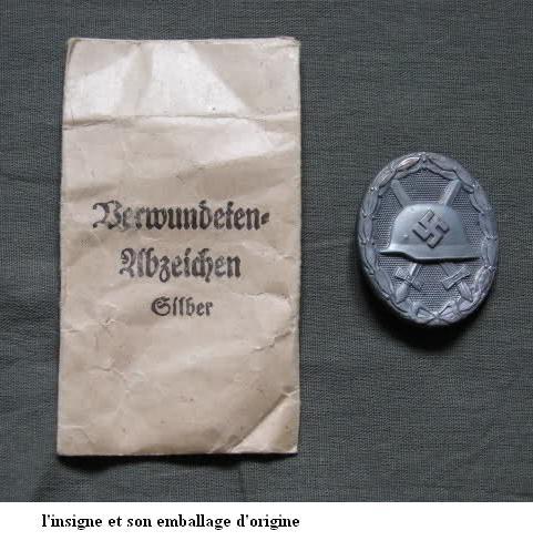 Insigne Badge des blessés -WH 2vigm711