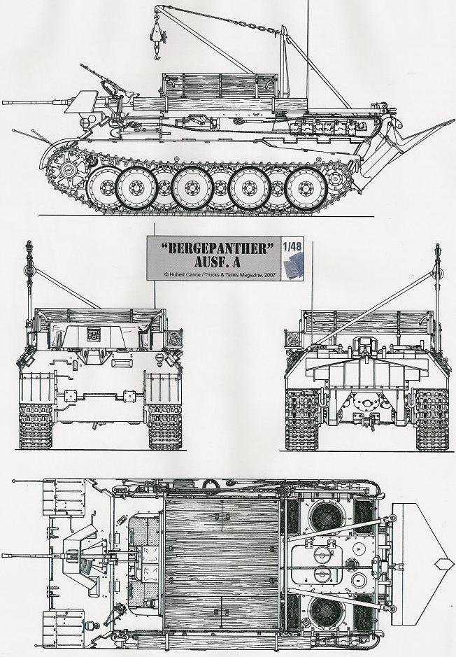 Bergepanzer V Bergepanther 909810