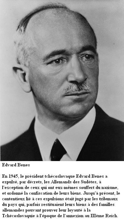 La crise des Sudètes - 1938 Benes10