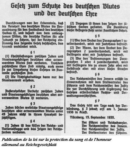 Les Lois de Nüremberg - 1935 Blutsc10