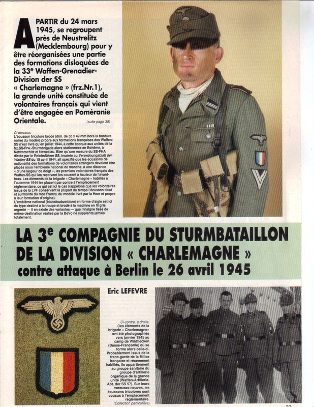 Waffen ss - Uniforme Grenadier Div Charlemagne - Berlin 45 Charle10
