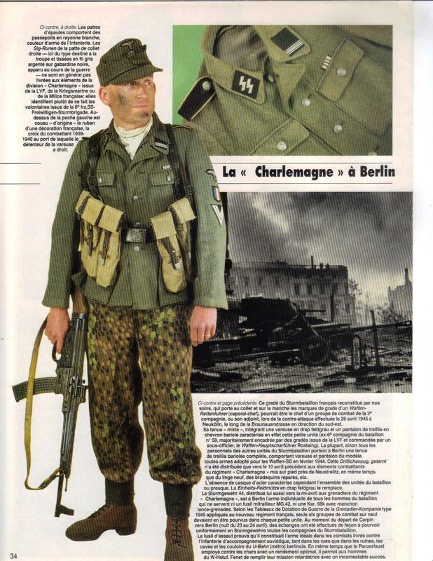 Waffen ss - Uniforme Grenadier Div Charlemagne - Berlin 45 Charle11
