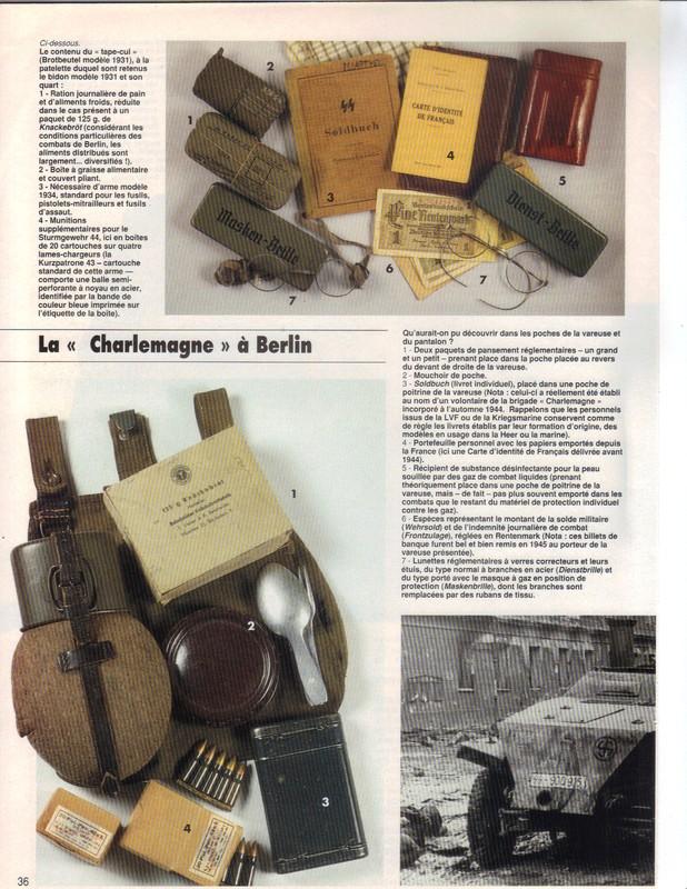 Waffen ss - Uniforme Grenadier Div Charlemagne - Berlin 45 Charle13