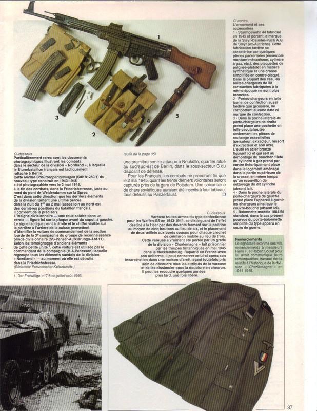 Waffen ss - Uniforme Grenadier Div Charlemagne - Berlin 45 Charle14