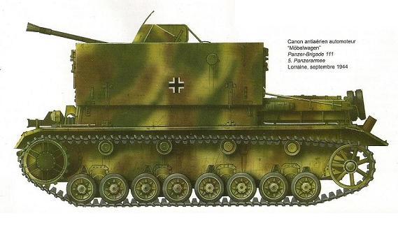 3.7 cm Flakvierling auf Fahrgestell Panzerkampfwagen IV Eion0010