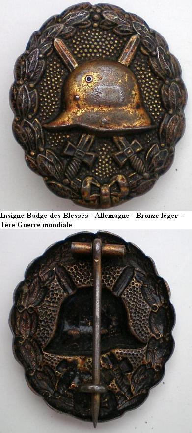 Insigne Badge des blessés -WH Insign13