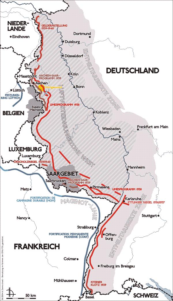Ligne Siegfried - Der Westwall Karte_10