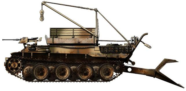 Bergepanzer V Bergepanther P119