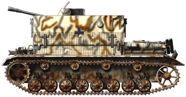 3.7 cm Flakvierling auf Fahrgestell Panzerkampfwagen IV P121