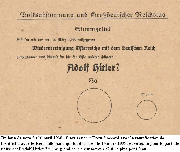 12 mars 1938 - Anschluss de l'Autriche Stimmz10