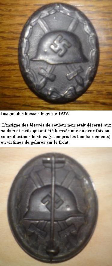 Insigne Badge des blessés -WH Talach11