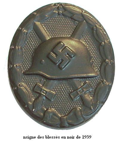 Insigne Badge des blessés -WH Verwun11