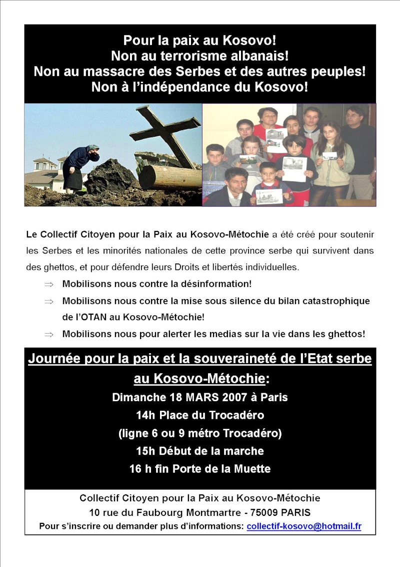 Dimanche 18 Mars, Paris : Manifestation pour le Kosovo ! Affich10