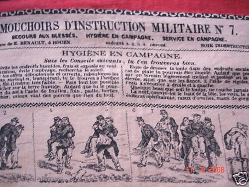 LES MOUCHOIRS D'INSTRUCTION MILITAIRES (Marine et Bateaux) Moucho18