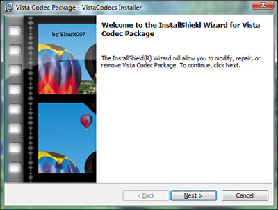 Advanced Vista Codec Package Advanc10