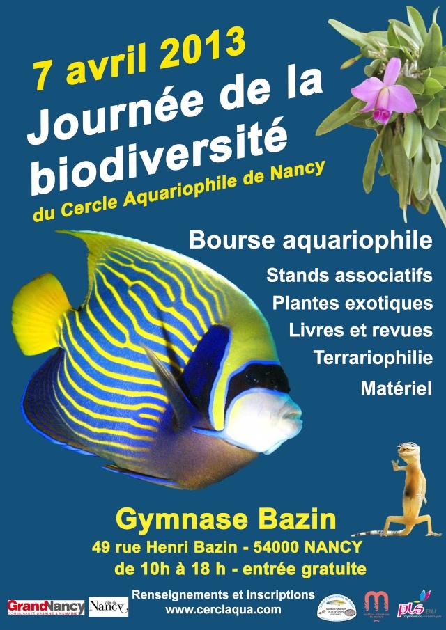 Bourse aux poissons Cercle Aquariophile de NANCY 2013 Affich10