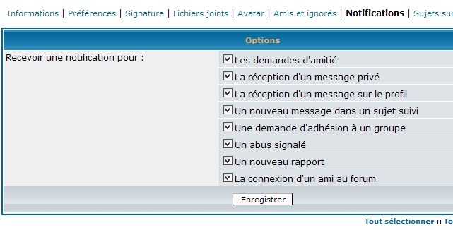 L'activation de la Toolbar 610
