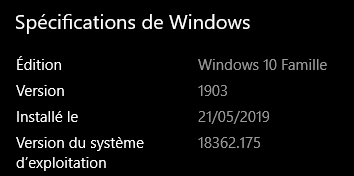 Mise à jour cumulative KB4503293 pour Windows 10 - version 1903  Annota10