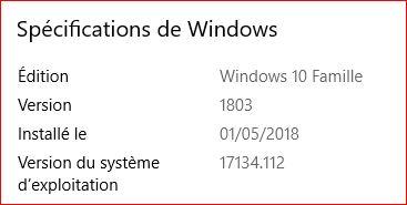 Mise à jour cumulative KB4284835 Maj_1210