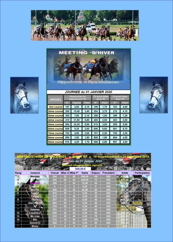Résultats du Mercredi 01/01/2020 0101_211