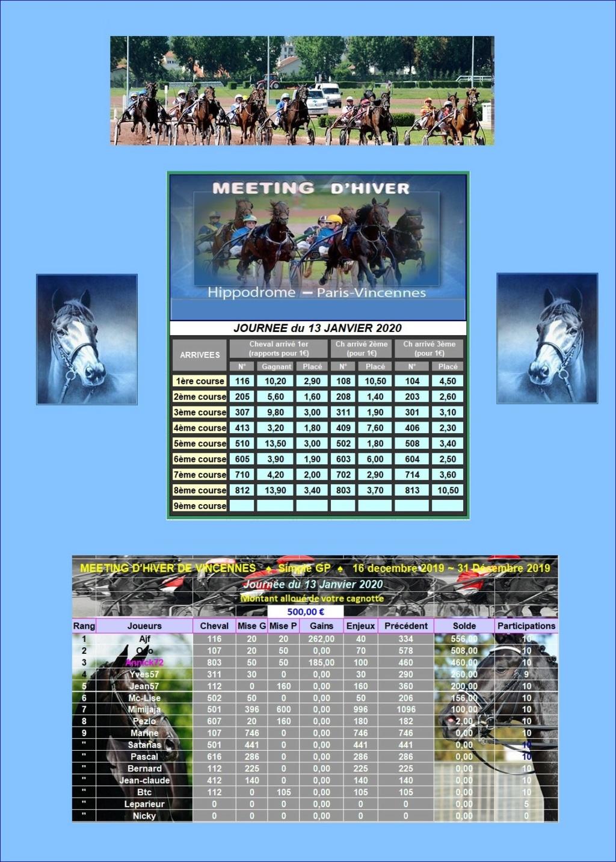 Résultats du Lundi 13/01/2020 - CLT FINAL 1ère QUINZAINE/01 1301_211